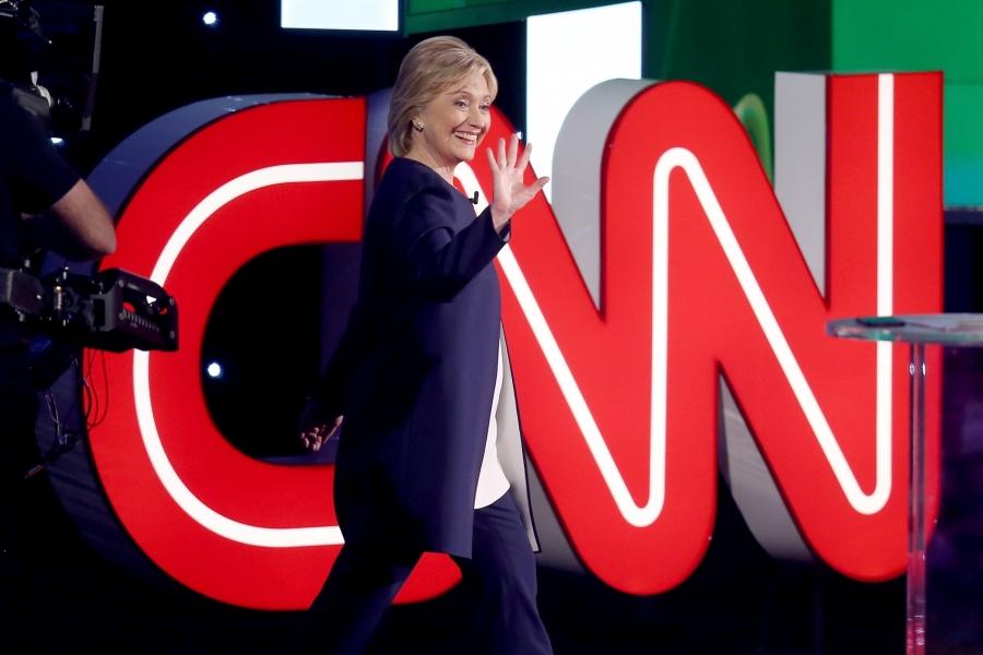 Hillary Clinton, în timpul dezbaterii democrate, organizate de CNN la Las Vegas