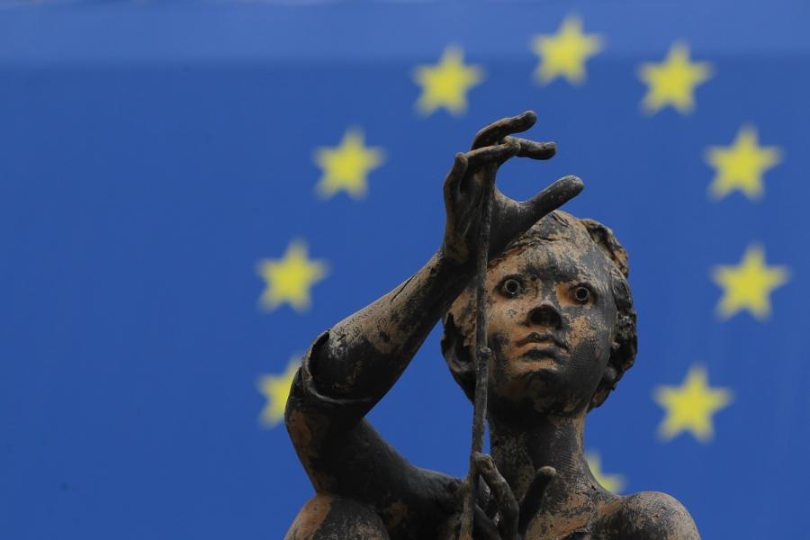 Statuie în fața Comisiei Europene din Bruxelles
