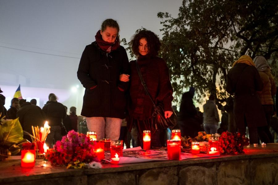 În memoria victimelor de la Colectiv