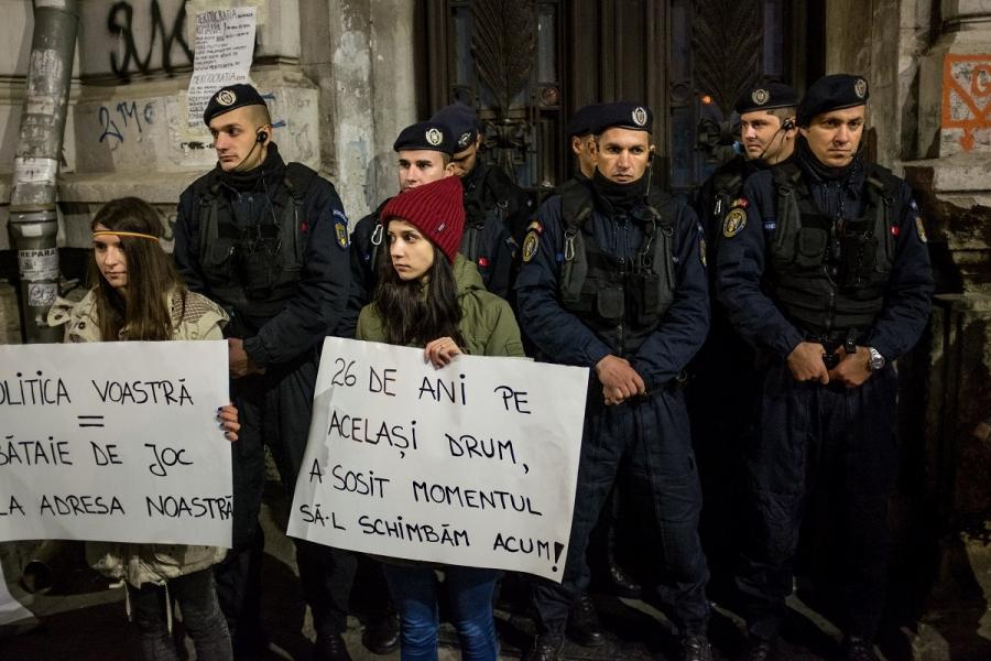 Protest în București împotriva clasei politice