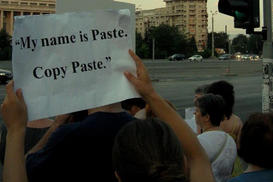 Protest împotriva plagiatului, în fața Guvernului României