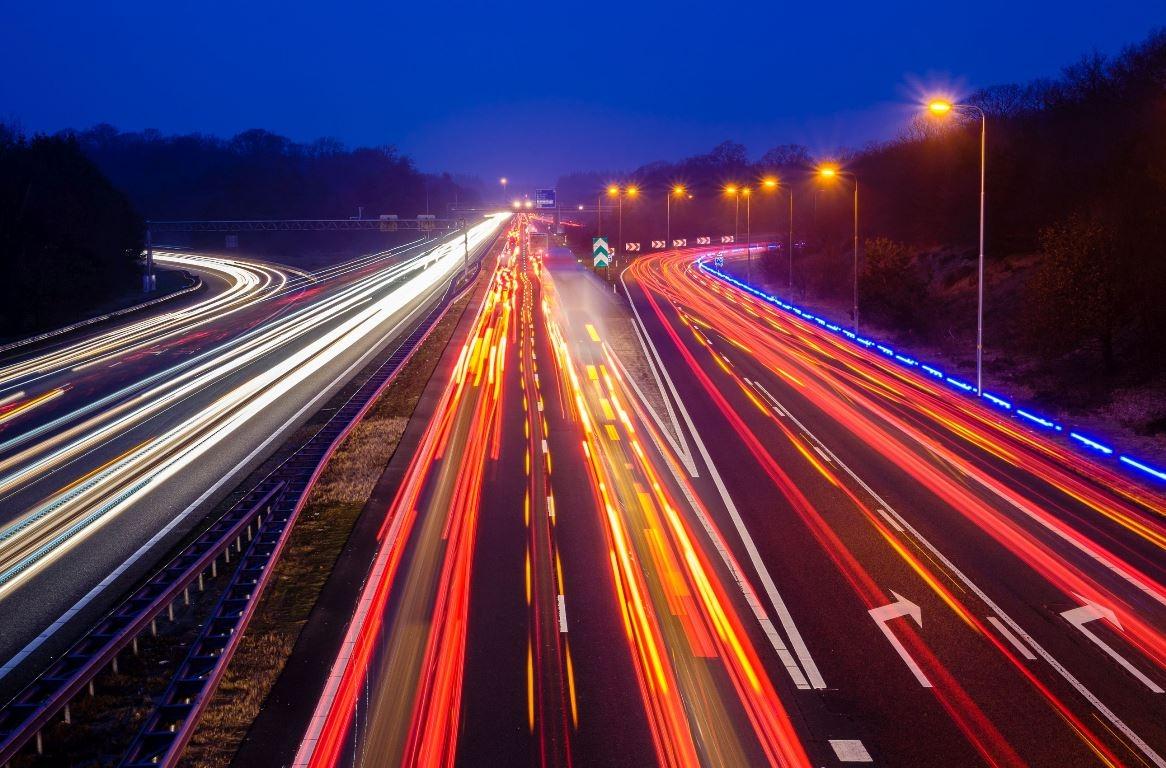 Autostrăzi noaptea, în Olanda