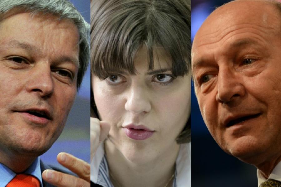 Dacian Cioloș, Laura Codruța Kovesi, Traian Băsescu