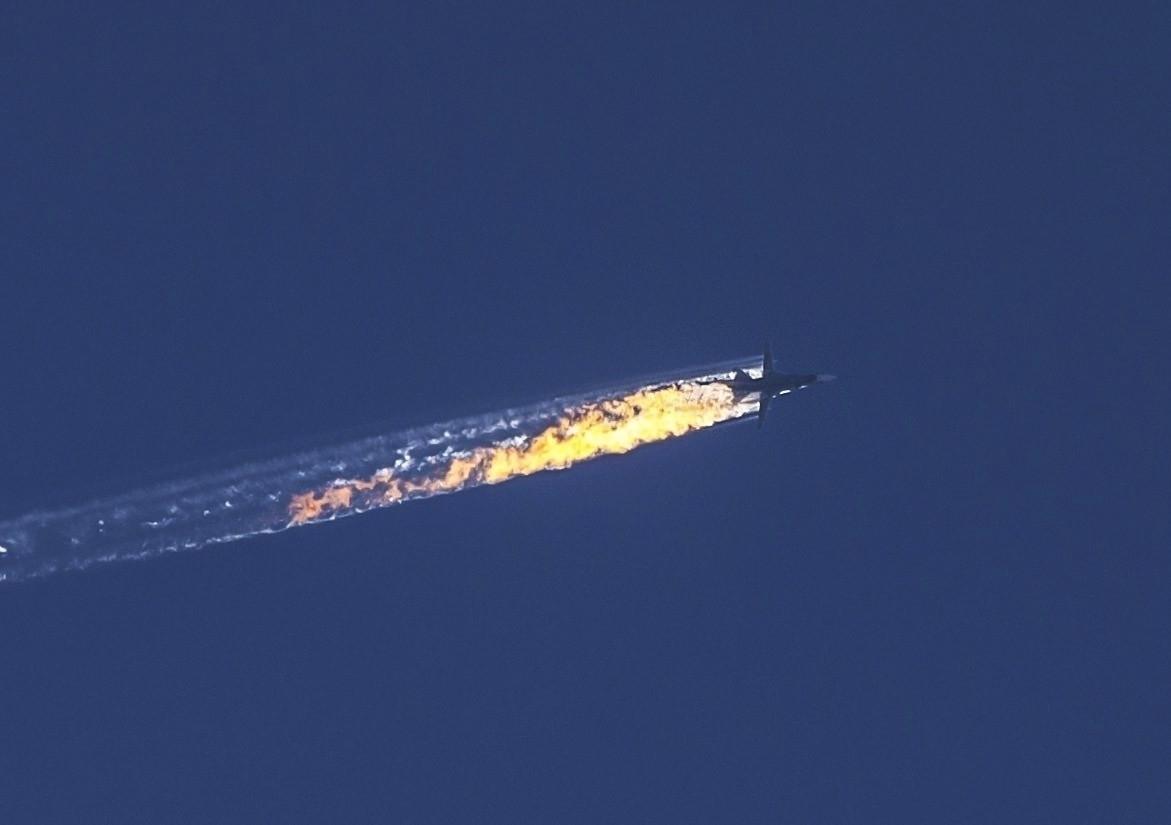 Avion de luptă rusesc prăbușit