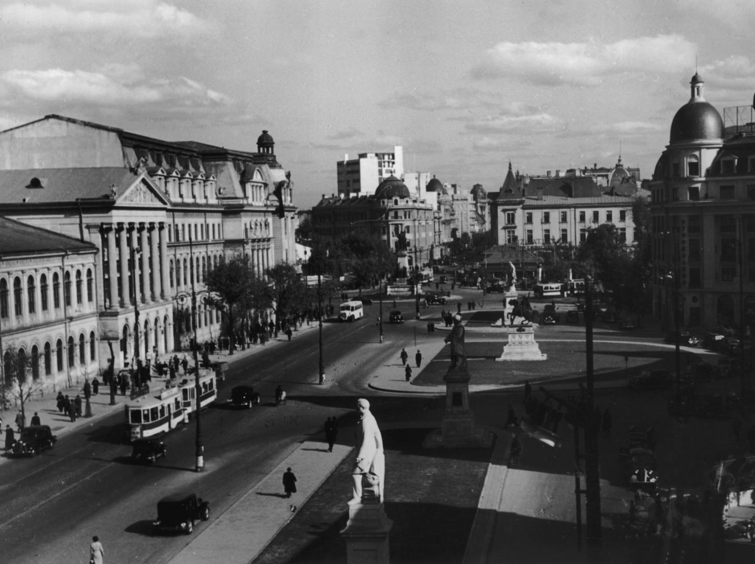 Piața Brătianu, în 1941