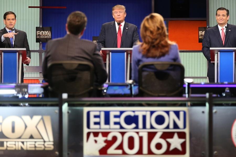 Dezbatere televizată în SUA
