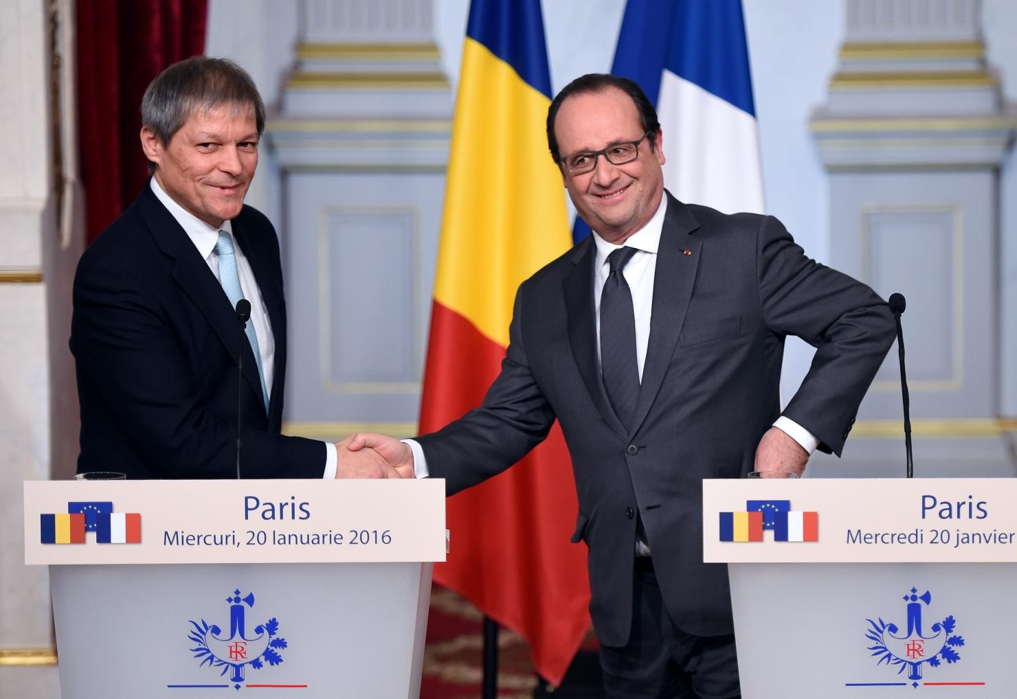 Dacian Cioloș și Francois Hollande