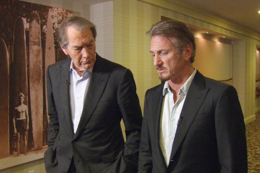 Sean Penn și Charlie Rose