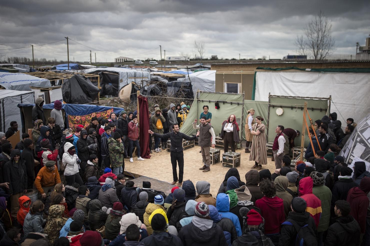 Tabăra de refugiați din Calais