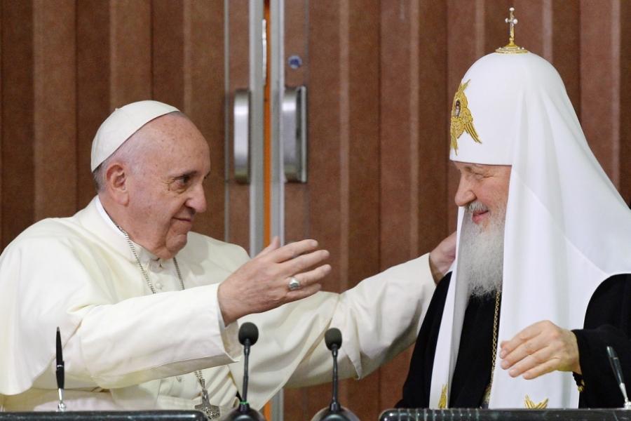 Patriarhul Kiril și Papa Francisc