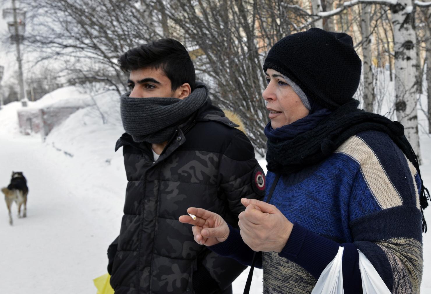 Refugiați la graniță