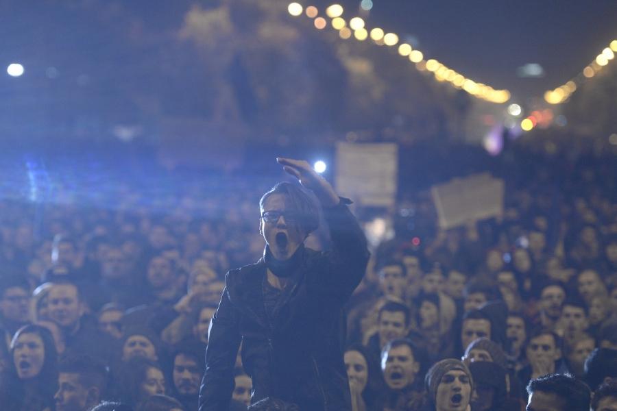 Proteste în Piața Universității