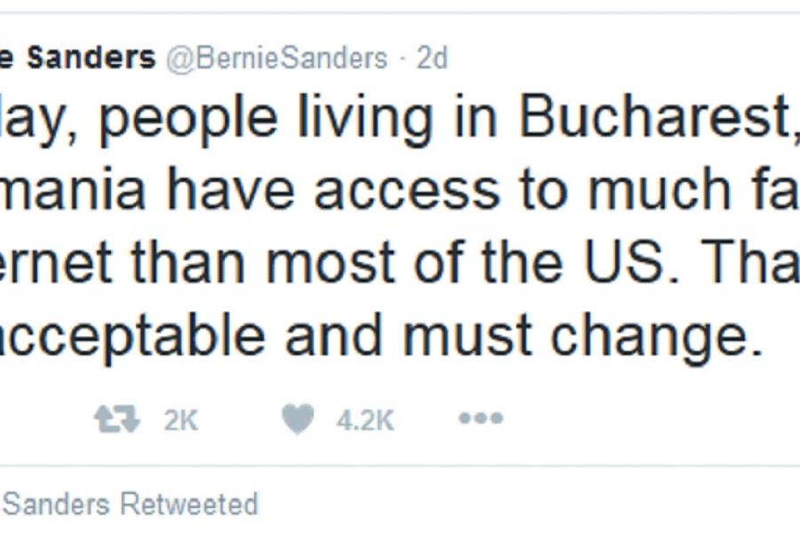 Tweet Bernie Sanders