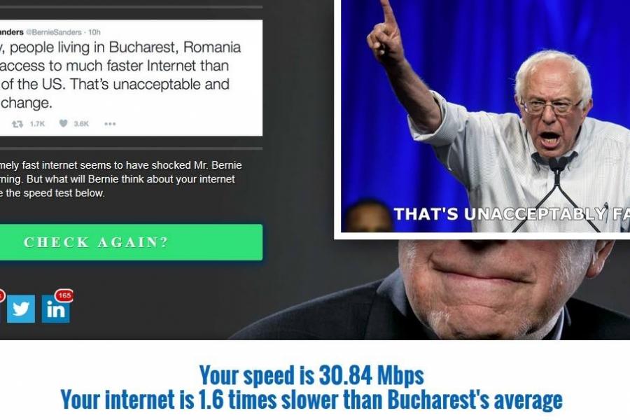 Replica dată de români lui Bernie Sanders