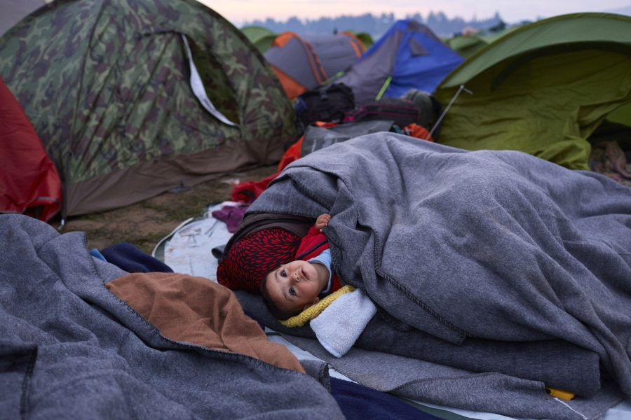 Refugiați în Grecia