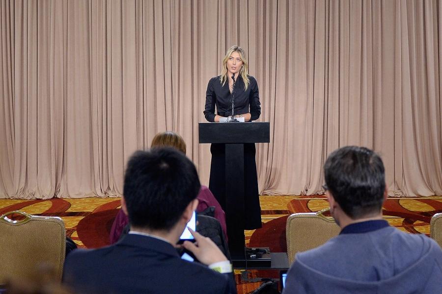 Sharapova la conferinta