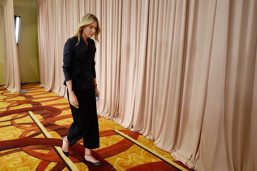 Sharapova la conferinta de presa