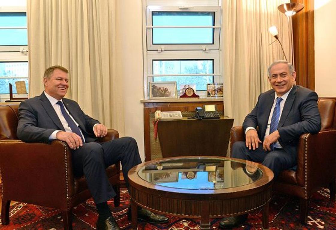 Klaus Johannis si Benjamin Netanyahu