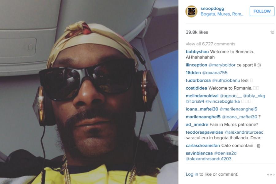 Gafa lui Snoop Dogg pe Instagram
