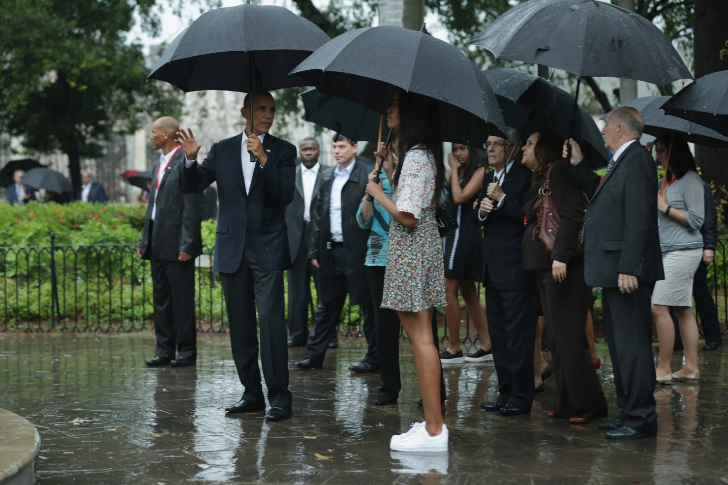 Familia Obama la Havana