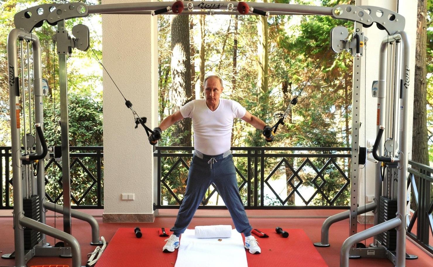 Putin face exerciții fizice