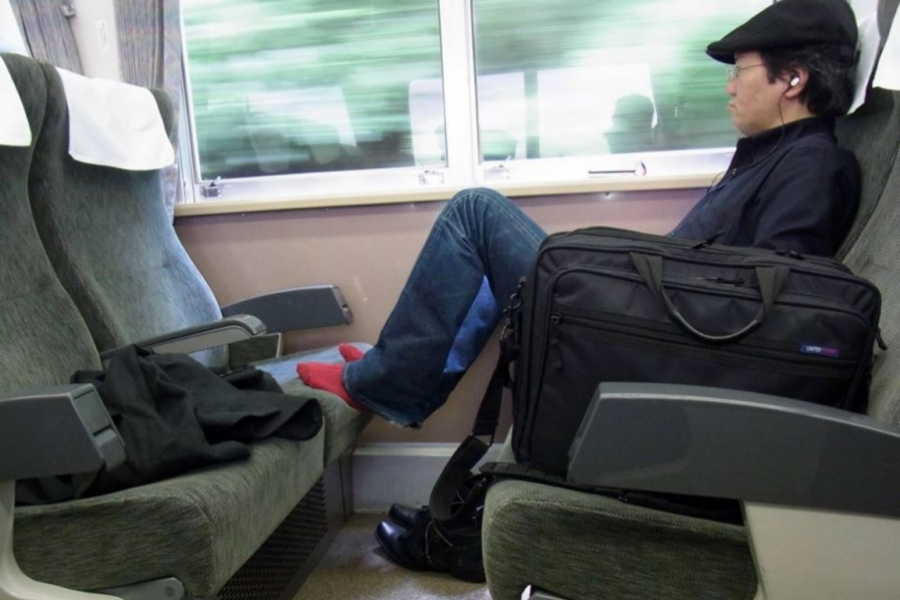 Japonez în tren