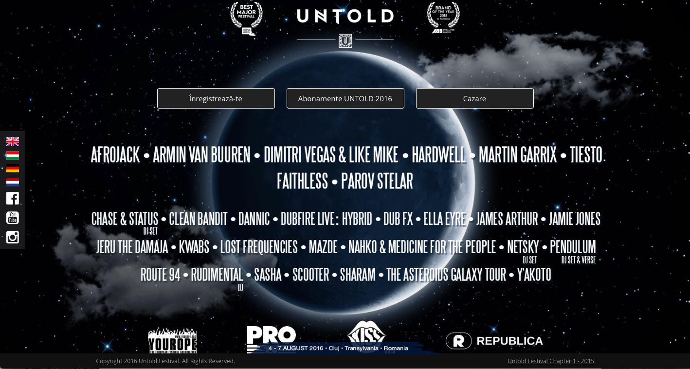 UNTOLD Landing Page