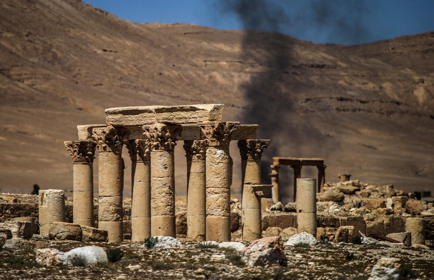 Coloanele antice din Palmyra