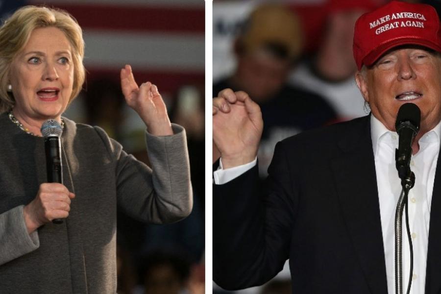 Clinton si Trump