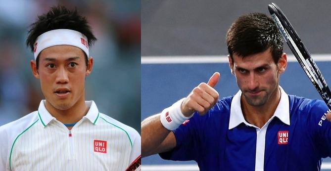 Novak Djoković și Kei Nishikori