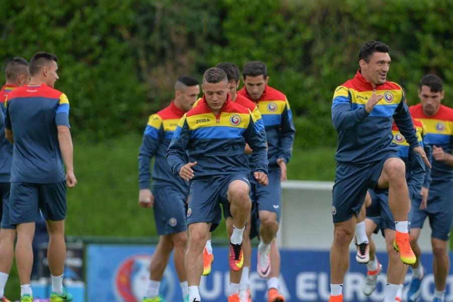 România - Albania, Antrenament Națională