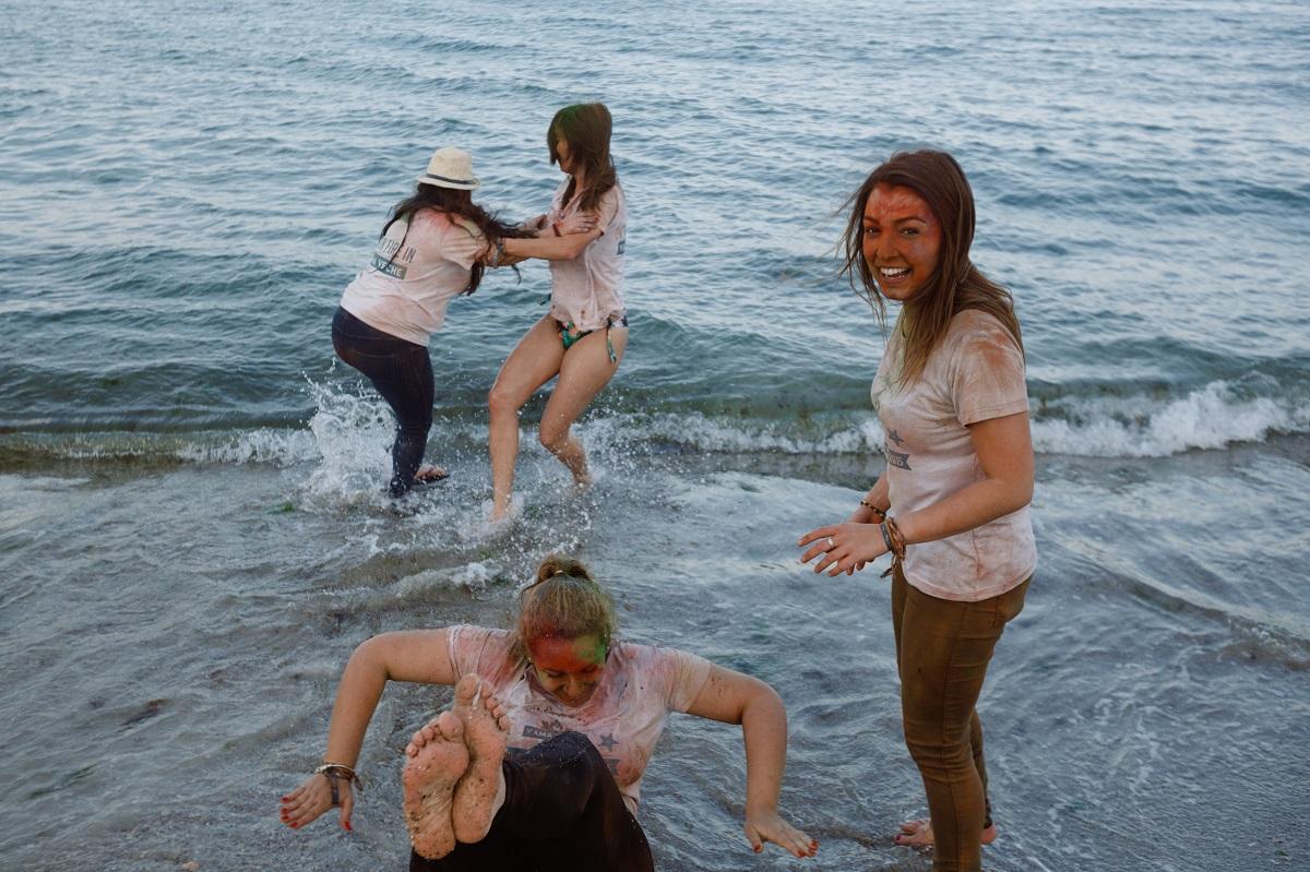 Pareo de plaja Rosme multicolor