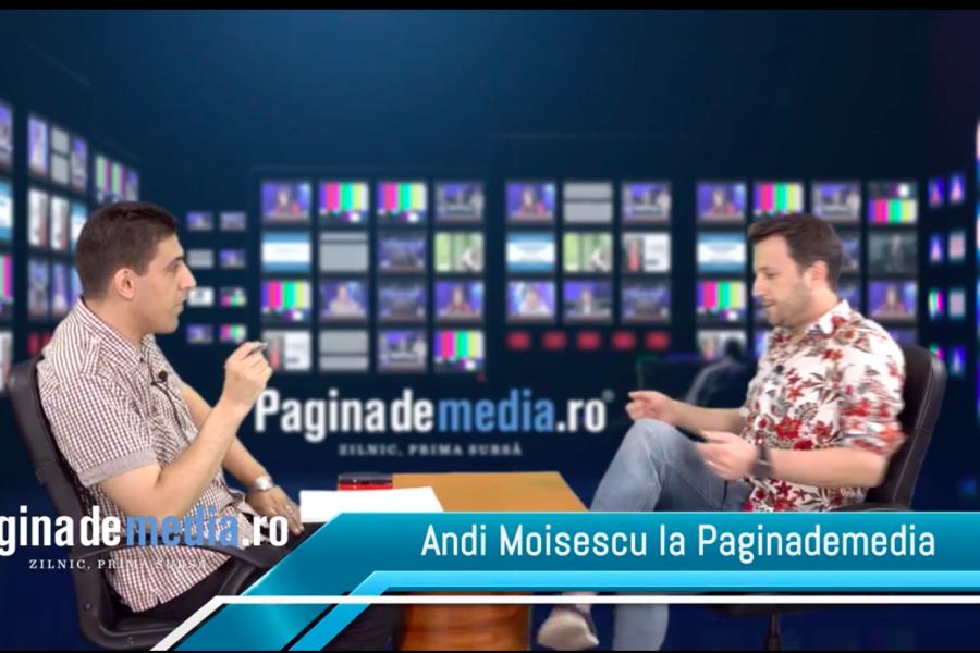 Andi Moisescu, realizator ApropoTv