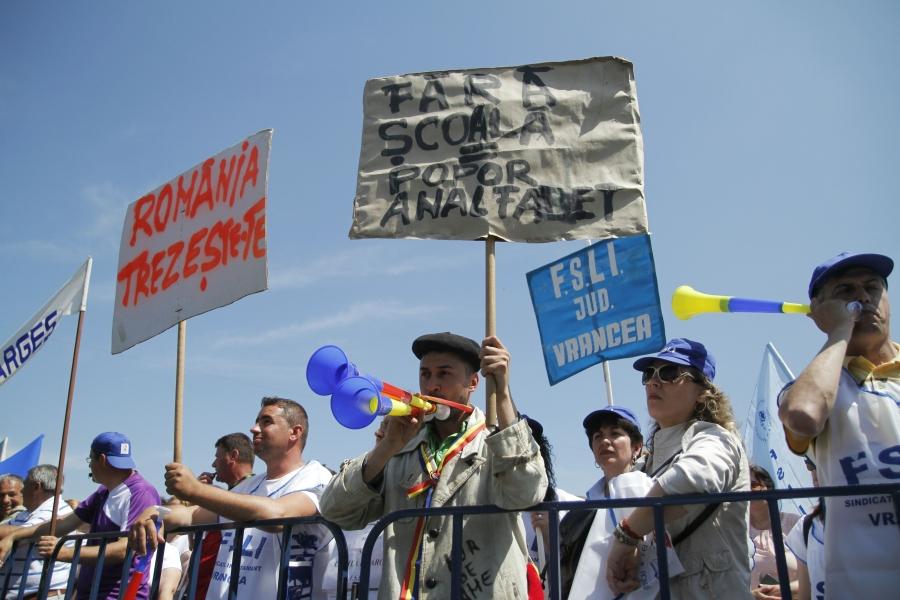 Proteste sindicate invățământ