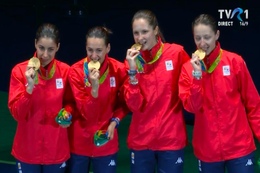Echipa feminină de spadă a României