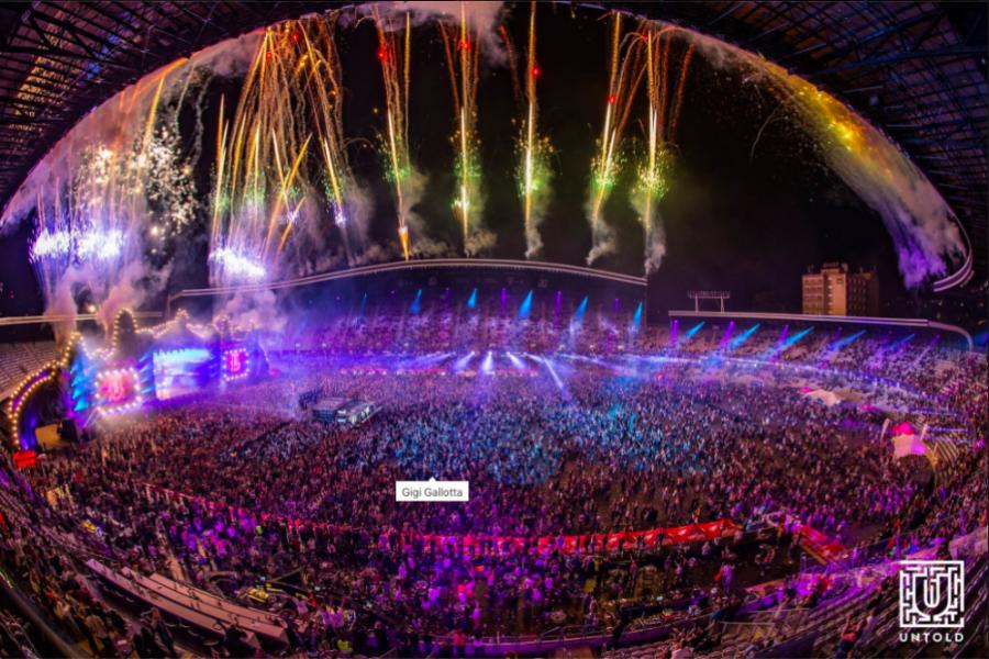 Foc de artificii impresionant la încheierea UNTOLD 2016