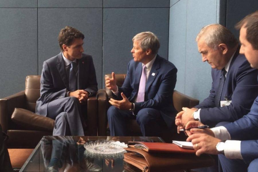Cioloș și Trudeau
