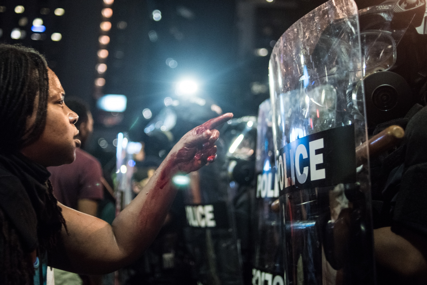 Proteste în Charlotte, Carolina de Nord