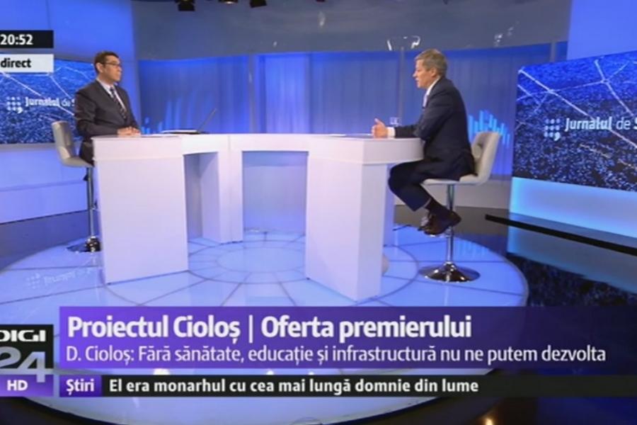 Dacian Cioloș Digi24