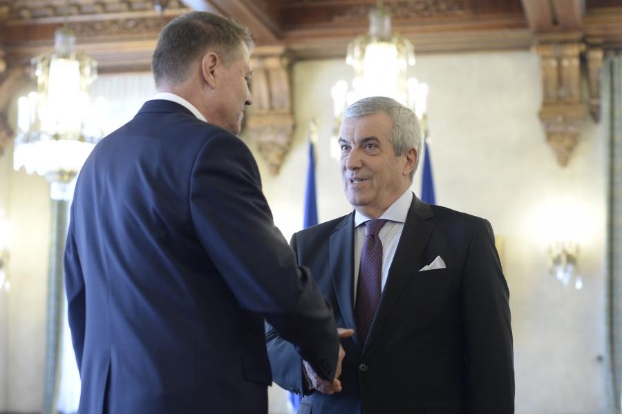 Klaus Iohannis și Călin Popescu Tăriceanu -