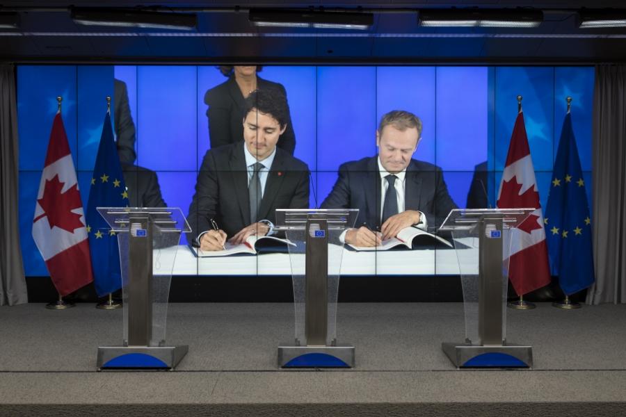 Semnarea acordului CETA