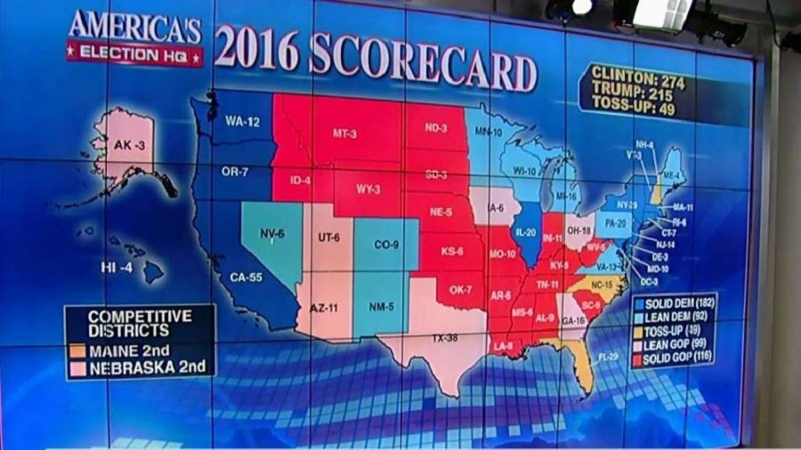 Harta alegeri SUA