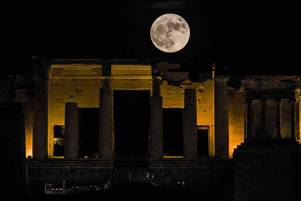 Superluna în Grecia