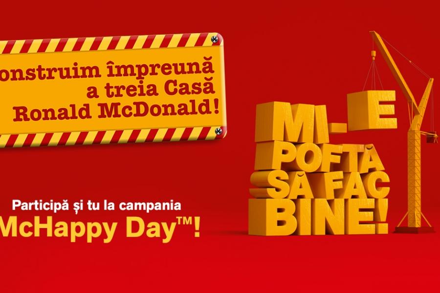 """Campania """"Mi-e poftă să fac bine"""" la McDonald's."""