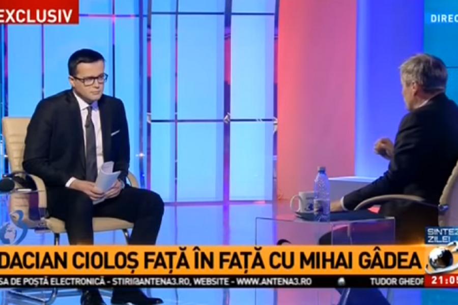Mihai Gâdea și Dacian Cioloș