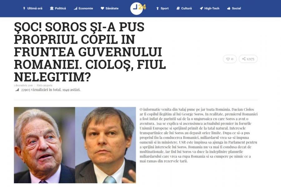 Soros și Cioloș