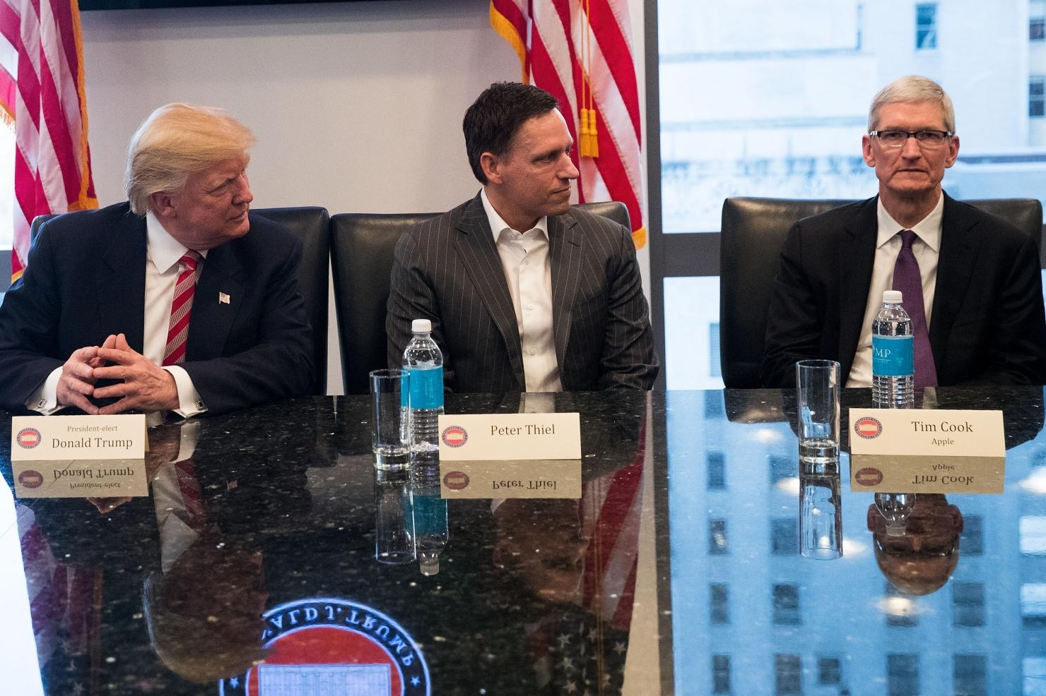 Trump și liderii din high tech