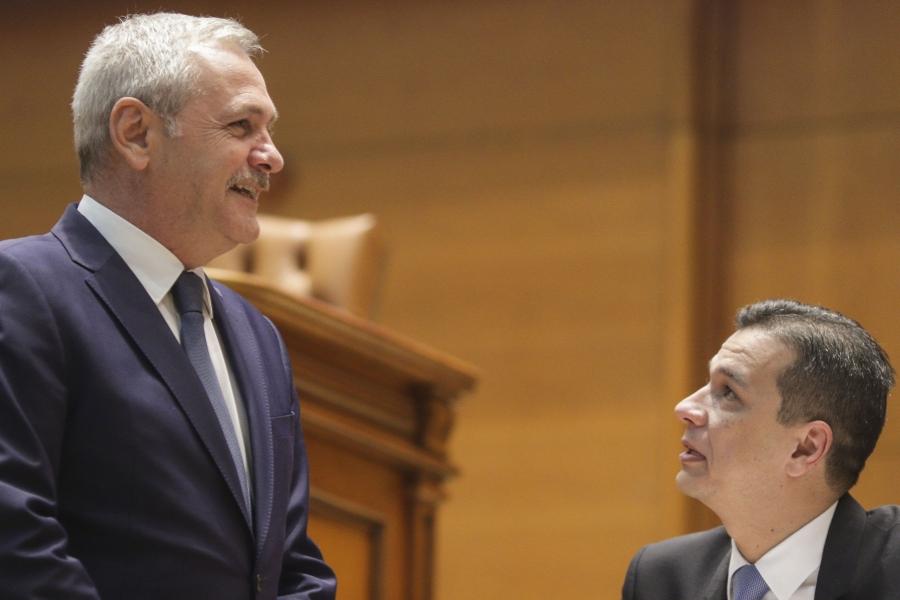 Liviu Dragnea și Sorin Grindeanu în Parlament