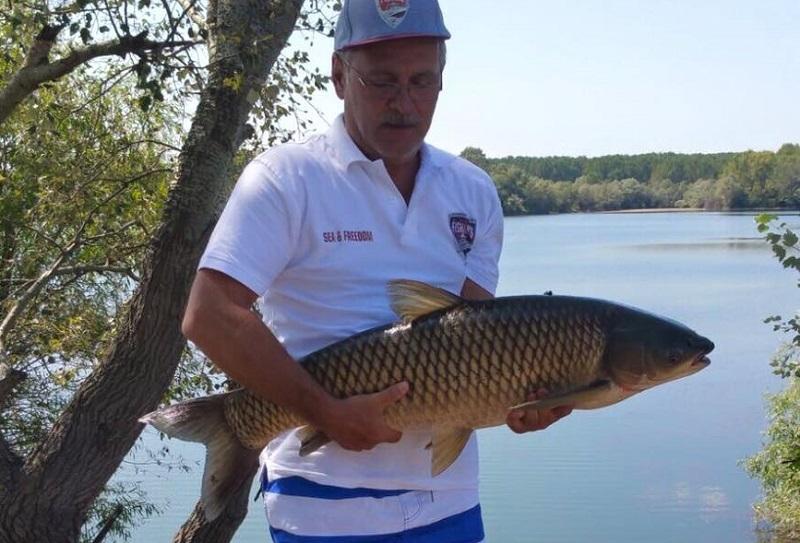 Liviu Dragnea la pescuit