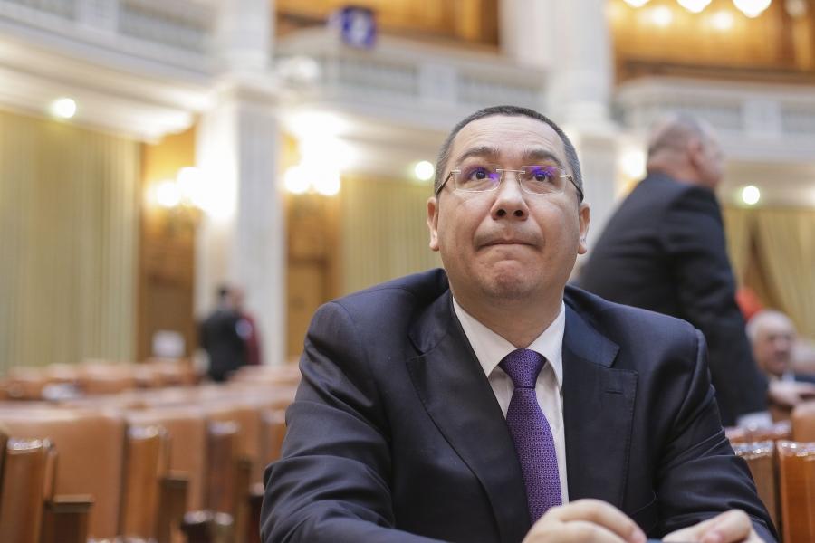 Victor Ponta în Parlament